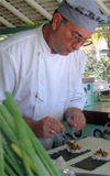 St Lucia: La Soufri�re - Munn Bill resort - sushi chef - cook - sea food - photo by P.Baldwin