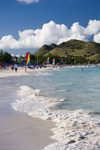 St. Martin - Orient Beach: Caribbean surf - photo by D.Smith