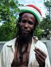 St Vincent and the Grenadines - Bequia island: Brian smokes a joint - rastafarian (photographer: Pamala Baldwin)