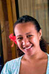 Samoa - Upolo - Apia: woman with flower in hair - photo by D.Smith