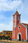 S�o Tom�, �gua Grande, S�o Tom� and Pr�ncipe / STP: Church of Our Lady of the Conception and Ba�a hotel - 'Boa Concei��o' / Igreja de N. Sra. da Concei��o and Hotel Resid�ncial Ba�a - Avenida Concei��o - photo by M.Torres