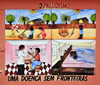 São Tomé, São Tomé and Príncipe / STP: Malaria prevention campaign - mural at the National Lyceum / campanha de prevenção do Paludismo - mural no Liceu Nacional, ex-Escola Técnica Silva Cunha - photo by M.Torres