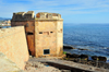 Alghero / L'Alguer, Sassari province, Sardinia / Sardegna / Sardigna: octagonal defensive tower near the sea wall - Torre San Giacomo / Torre dei Cani - photo by M.Torres
