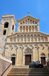 Cagliari, Sardinia / Sardegna / Sardigna: Cathedral of Saint Mary - piazza Palazzo - mother church of the Archdiocese of Cagliari - Cattedrale di Santa Maria di Castello - Duomo - quartiere Castello - photo by M.Torres