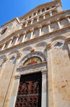 Cagliari, Sardinia / Sardegna / Sardigna: Cathedral of Saint Mary - founded in 1217 - 1930s neo-Romanesque style facade by architect Francesco Giarrizzo - Cattedrale di Santa Maria di Castello - Duomo - quartiere Castello - photo by M.Torres