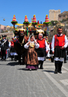 Cagliari, Sardinia / Sardegna / Sardigna: Feast of Sant'Efisio / Sagra di Sant'Efisio is the most important feast of Cagliari, taking place yearly on May 1st - giubbe rosse dei miliziani - photo by M.Torres
