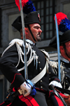 Cagliari, Sardinia / Sardegna / Sardigna: Feast of Sant'Efisio / Sagra di Sant'Efisio martire - mounted Carabiniere with sabre - photo by M.Torres