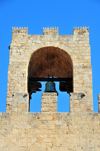 Oristano / Aristanis, Oristano province, Sardinia / Sardegna / Sardigna: bell on the tower of San Cristoforo / Mariano II / Porta Manna - piazza Roma - photo by M.Torres