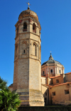 Oristano / Aristanis, Oristano province, Sardinia / Sardegna / Sardigna: St. Mary's Cathedral - campanile with onion dome - Santa Maria Assunta - photo by M.Torres