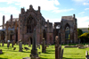 Melrose, Borders, Scotland: the Abbey - foundedby David I around 1136 as a Cistercian abbey - photo by C.McEachern