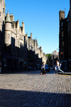 Scotland - Edinburgh: There is no scarcity of amazing architecture or tourists busy checking it out - photo by C.McEachern