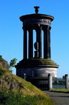 Scotland - Edinburgh: memorial to Scottish philosopher Dugald Stewart, Calton Hill - photo by C.McEachern