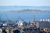 Scotland - Edinburgh: view towards Leith from Calton Hill showing the Firth of Forth - port - photo by C.McEachern