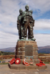Scotland - Spean Bridge - Loch Lochy (Highlands): poppies at the Bristish Commando War Memorial - photo by M.Torres