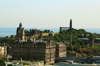 Scotland - Edinburgh: view of Calton Hill from Edinburgh Castle - visible are the National Monument (acropolis), Nelson Monument,Observatory, Stewart Memorial, North Bridge and clock Tower of the Balmoral Hotel - photo by C.McEachern