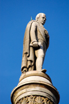 Scotland - Glasgow - Sir Walter Scott atop his column in George Square - photo by C.McEachern