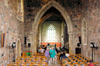 Scotland - Inner Hebrides - Isle of Iona: St Mary's Abbey - the nave - photo by C.McEachern