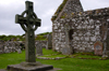 Scotland - Islay Island - View of the Kildalton Cross and chapel - one of the finest carved crosses in the world, made of local bluestone - photo by C.McEachern
