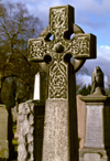 Scotland - Stirling: celtic cross - photo by F.Rigaud