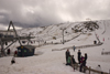 Cairngorm Mountains, Highlands, Scotland: Ski resort - ski lifts - photo by I.Middleton