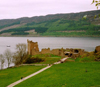 Loch Ness, Highland, Scotland: ruins of Urquhart Castle - photo by M.Torres