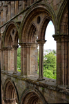 Jedburgh, Borders, Scotland: the Abbey - windows - photo by C.McEachern