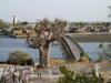 Senegal - Joal-Fadiouth: shell village- view of the town from cemetery hill - baobab - photo by G.Frysinger