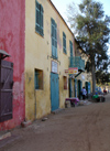 Senegal - Gorée Island: old houses - photo by G.Frysinger