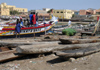 Senegal - Saint Louis: Fisherman's Village - building canoes from a single trunk - photo by G.Frysinger