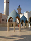 Senegal - Touba - Great mosque - blue domes - photo by G.Frysinger