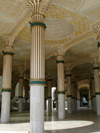 Senegal - Touba - Great mosque - interior decoration - photo by G.Frysinger