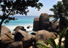 Mahe, Seychelles: Glacis - rocks, sea and palm trees - photo by M.Torres