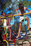 Seychelles - Mahe island: kindergarten - girls playing - photo by F.Rigaud