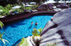 Seychelles - Praslin island: pool at the Lémuria Resort Hotel - photo by F.Rigaud