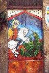 Sicily / Sicilia - Palermo: learn Sicilian! - St George on a gate (photo by Anna Slaczka)