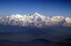 Sikkim - Mount Kanchenjunga, seen from the flight between Delhi and Paro- third highest mountain in the world - border of Sikkim and Nepal - Himalayas - photo by A.Ferrari