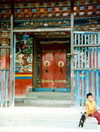 Sikkim - Rumtek: Enchey monastery - entrance - photo by G.Frysinger