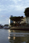 Singapore: Civilisations Museum - seen from the Singapore River - photo by D.Jackson