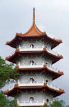Singapore: Pagoda at the Entrance to the Chinese Garden - photo by D.Jackson