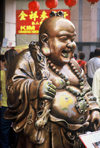 Singapore: Laughing Buddha - religion - photo by S.Lovegrove
