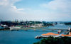 Singapore / SIN: causeway to the container harbour seen from the Sentosa Cable Car - photo by M.Torres