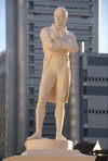 Singapore: Sir Stamford Raffles statue (photo by S.Lovegrove / Picture Tasmania)