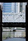 Singapore: Anderson Bridge from tourist boat - Singapore River - photo by D.Jackson