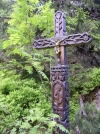 Slovakia - High Tatras: symbolic cemetery - cross - photo by J.Kaman