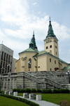Slovakia - Central Slovakia / Stredoslovenský - Zilina / Sillein / Zsolna / Zylina: Church of the Holy Trinity and Burian Tower Belltower (photo by P.Gustafson)