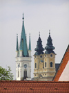 Slovakia - Nitra: Church spires - photo by J.Kaman