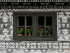 Slovakia - Cicmany village: folk architecture reserve - window with flower pots - Zilina district - photo by J.Kaman