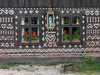 Slovakia - Cicmany village: folk architecture reserve - the Virgin and linear wall decorations - Zilina district - photo by J.Kaman