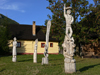 Slovakia - Ruzomberok - Vlkolinec village: UNESCO World Heritage site - wooden sculptures - Zilina district - photo by J.Kaman