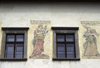 Slovakia - Levoca - Presov Region: wall paintings on Old Town Hall - prudence and confidence - photo by J.Fekete
